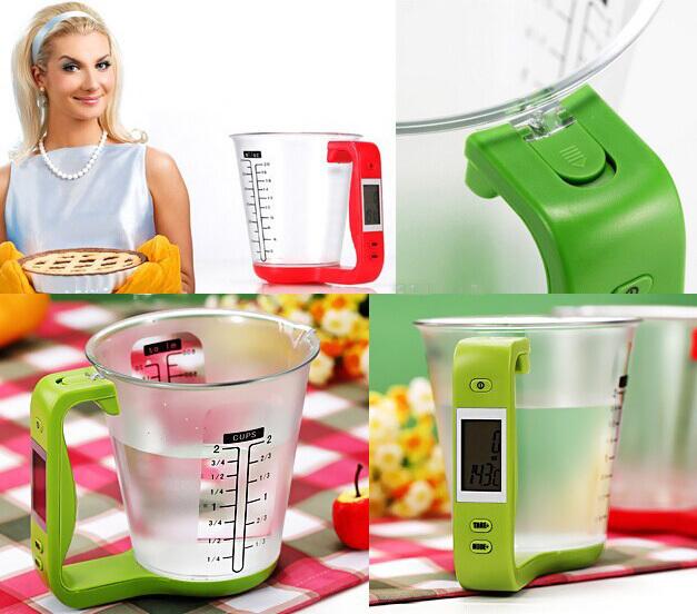 Balance de cuisine digitale avec verre mesureur garhe - Balance de cuisine digitale ...