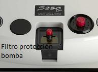 Envasadora Sico 250 Basic - filtro de protección de la bomba